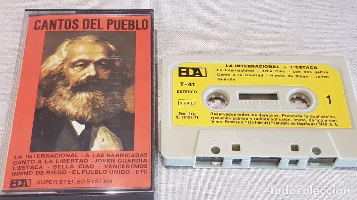 CANTOS DEL PUEBLO / LA INTERNACIONAL Y 11 TEMÁS POPULARES MÁS / MC - BDA-1977 / LUJO. (Música - Casetes)