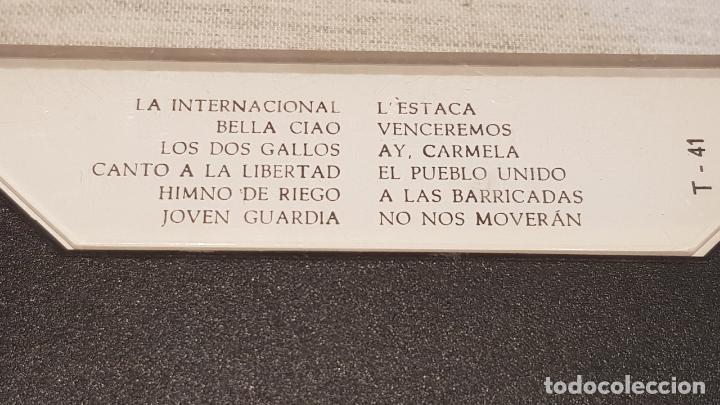 Casetes antiguos: CANTOS DEL PUEBLO / LA INTERNACIONAL Y 11 TEMÁS POPULARES MÁS / MC - BDA-1977 / LUJO. - Foto 2 - 146114002