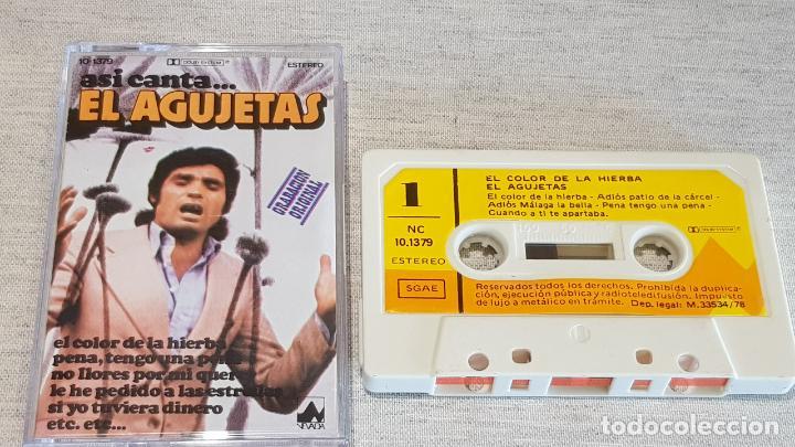 ASI CANTA...EL AGUJETAS / EL COLOR DE LA HIERBA / MC - DIAL DISCOS-1978 / CALIDAD LUJO. (Música - Casetes)