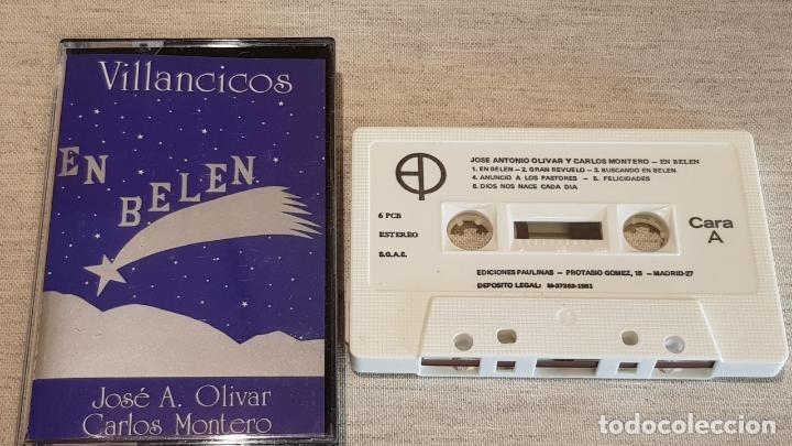 JOSE A. OLIVAR - CARLOS MONTERO / EN BELÉN / VILLANCICOS / MC - EDICIONES PAULINAS / LUJO (Música - Casetes)