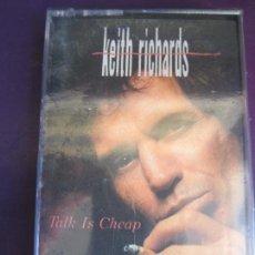 Cassette antiche: KEITH RICHARDS ?CASETE VIRGIN 1988 PRECINTADA - TALK IS CHEAP - ROLLING STONES. Lote 146618222