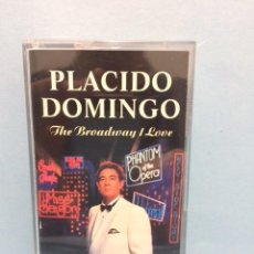 Casetes antiguos: CINTA PLACIDO DOMINGO THE BROADWAY I LOVE. Lote 146667234