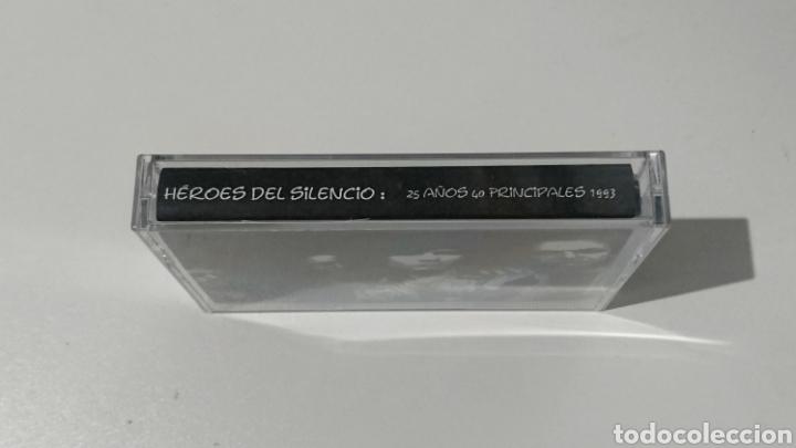 Casetes antiguos: Cassette Entrevista Héroes del Silencio 40 Principales 1995 - Foto 2 - 147397746
