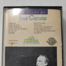 Casetes antiguos: JOSE CARRERAS COLECCIÓN VIDA COTIDIANA Y CANCIONES EDICIONES DEL PRADO. Lote 147574770