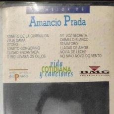 Casetes antiguos: AMANCIO PRADA COLECCIÓN VIDA COTIDIANA Y CANCIONES EDICIONES DEL PRADO. Lote 147575286