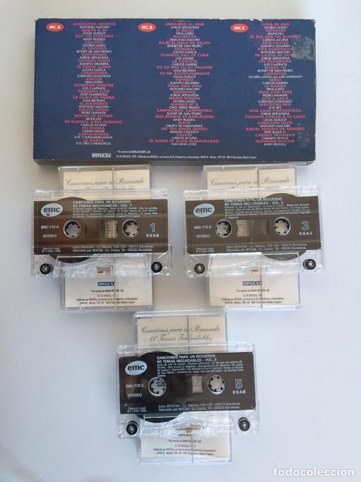 Casetes antiguos: 3 Casetes Canciones para un Recuerdo - Foto 2 - 147741060