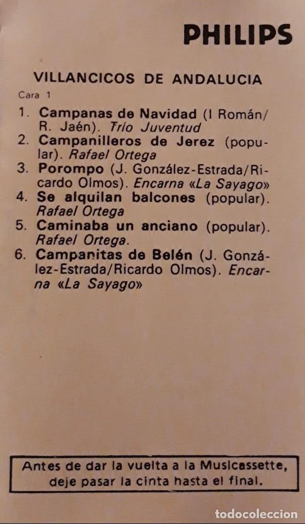 Casetes antiguos: VILLANCICOS GITANOS Y DE ANDALUCÍA. Lote de dos casetes. - Foto 4 - 147747954