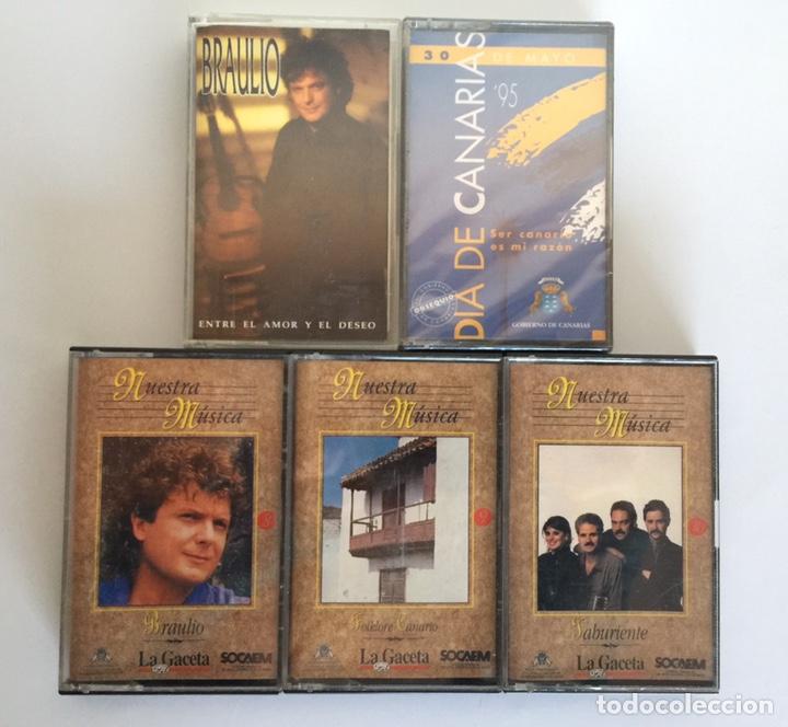 5 CASETES MÚSICA CANARIAS (Música - Casetes)