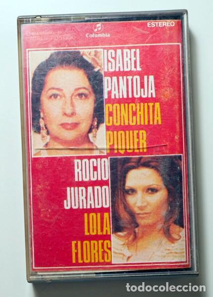 CANTARES 1. ISABEL PANTOJA, CONCHITA PIQUER, ROCÍO JURADO Y LOLA FLORES (Música - Casetes)