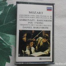Casetes antiguos: MOZART CONCIERTO PARA DOS PIANOS CONCIERTO PARA TRES PIANOS ASHKENAZY BAREMBOIN DECCA 1977. Lote 148233578