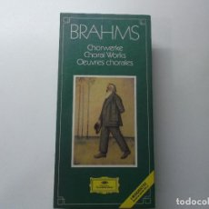 Casetes antiguos: BRAHMS CHORWERKE CHORAL WORKS OEUVRES CHORALES 1983 ESTUCHE 4 CASETTES DIGITAL RECORDING. Lote 148275942
