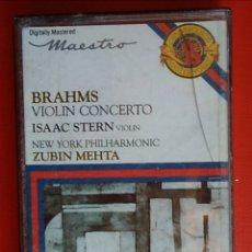 Casetes antiguos: CINTA CASSETTE CASETE BRAHMS VIOLIN CONCERTO AÑO 1979. Lote 148581984