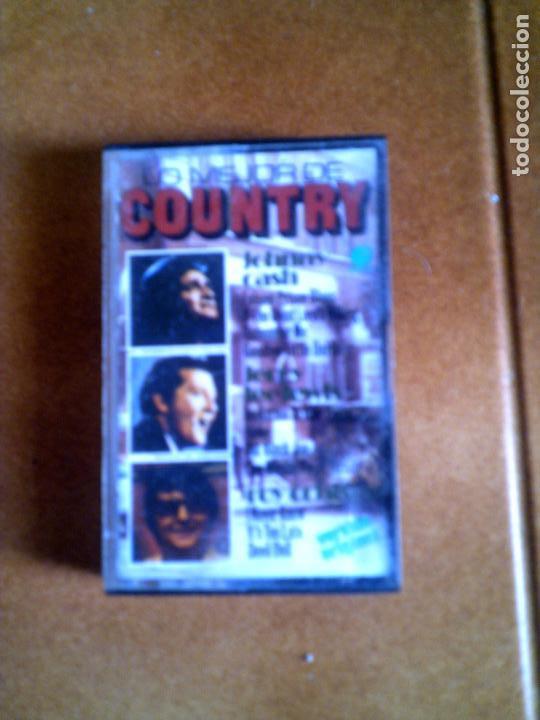CASETE LO MEJOR DEL COUNTRY ,JOHNNY CASH,JERRY LEE LEWIS,ROY ORBISON (Música - Casetes)