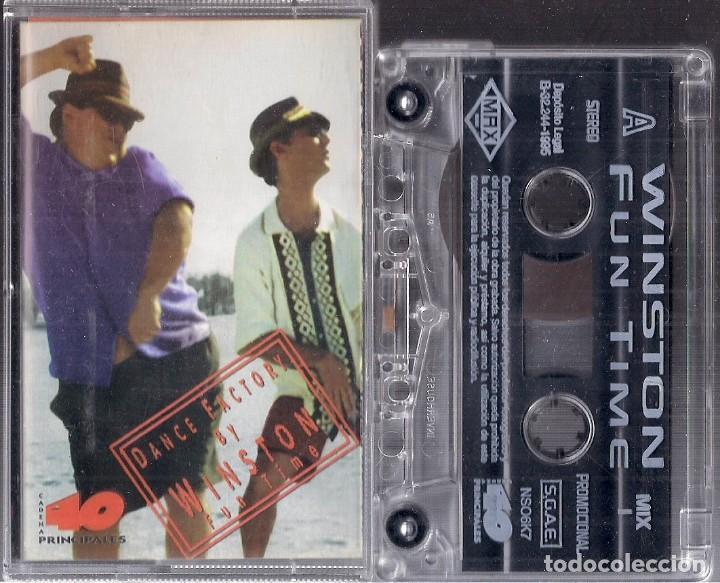 DANCE FACTORY BY WINSTON : FUN TIME - CASSETTE PROMOCIONAL 1995 MAX MUSIC 40 PRINCIPALES (Música - Casetes)