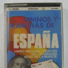Casetes antiguos: HIMNOS Y MARCHAS DE ESPAÑA: HIMNO NACIONAL, CANCION DEL LEGIONARIO,... PRECINTADA. Lote 151397886