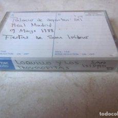 Casetes antiguos: LOQUILLO Y LOS TROGOLODITAS - PALACIO DE DEPORTES DEL REAL MADRID CASETE - FIESTAS SAN ISIDRO 1988 . Lote 151914790
