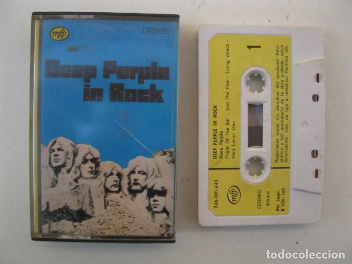CASETE - DEEP PURPLE - DEEP PURPLE IN ROCK - EMI-ODEON - AÑO 1983 - CINTA DE CASETTE. (Música - Casetes)