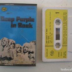 Casetes antiguos: CASETE - DEEP PURPLE - DEEP PURPLE IN ROCK - EMI-ODEON - AÑO 1983 - CINTA DE CASETTE.. Lote 152135358