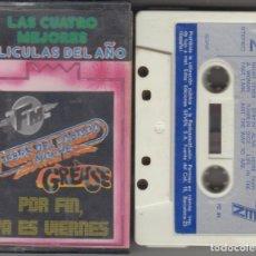 Casetes antiguos: LAS CUATRO MEJORES PELÍCULAS DEL AÑO CASSETTE SEVEN 1978 GREASE FM FIEBRE DEL SÁBADO NOCHE. Lote 152341458