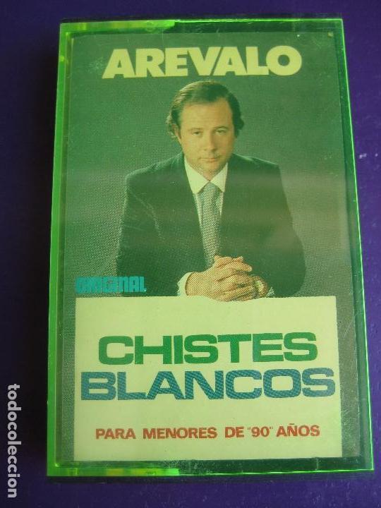 CHISTES BLANCO DE AREVALO CASETE OLYMPO - HUMOR RISA CACHONDEO - SIN APENAS USO (Música - Casetes)