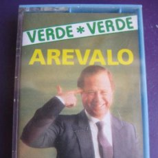 Casetes antiguos: CHISTES VERDE VERDE - AREVALO CASETE OLYMPO - HUMOR RISA CACHONDEO - SIN USO. Lote 152589970