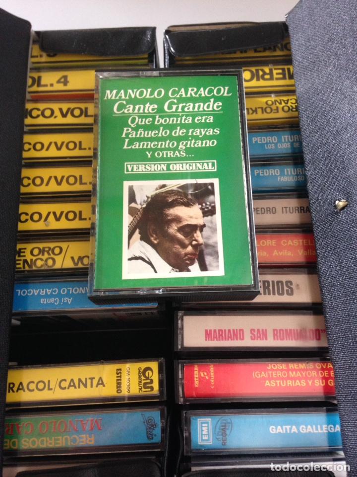 Casetes antiguos: COLECCIÓN CASSETTES - FLAMENCO, GAITAS, GUITARRAS, SAXOFÓN, MANOLO, CARACOL, SUDAMÉRICA - Foto 2 - 154019581