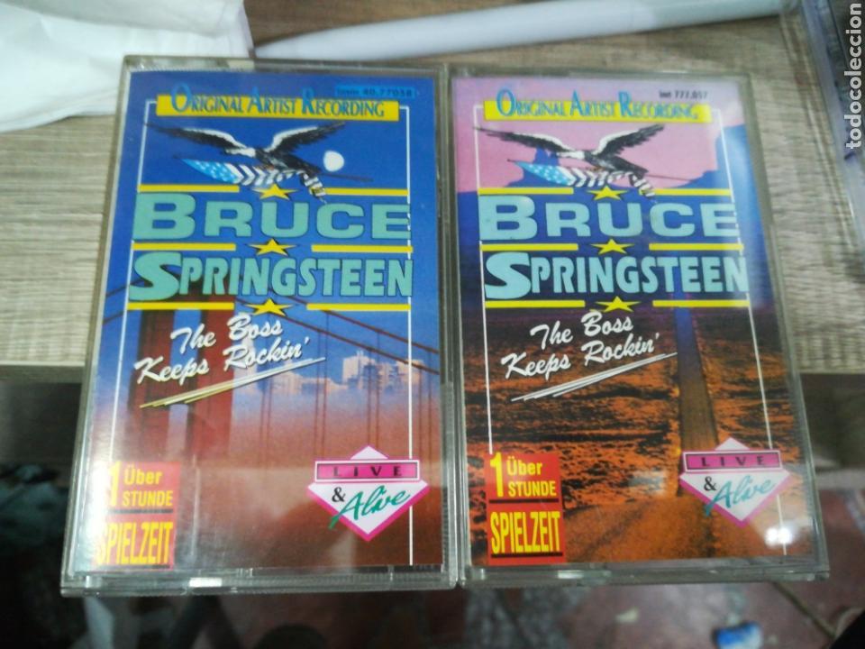 BRUCE SPRINGSTEEN LOTE 2 CASETES LIVE U.S.A. (Música - Casetes)