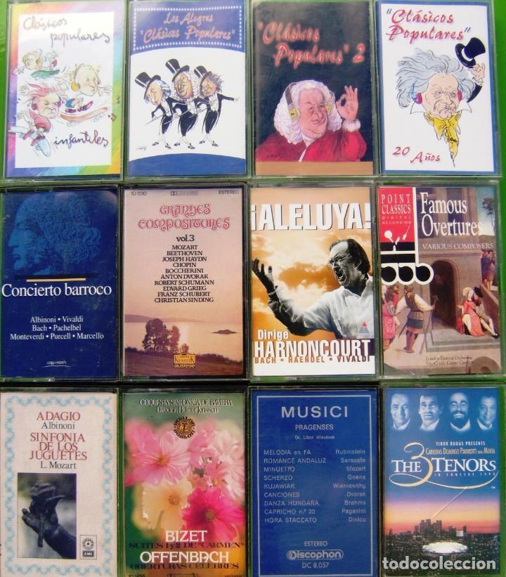 LOTE 12 CASETES - CLASICOS POPULARES, HARNONCOURT, OVERTURES (Música - Casetes)