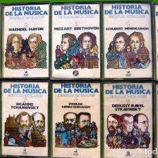 Casetes antiguos: LOTE 10 CASETES - HISTORIA DE LA MUSICA (FIGURAS ESTELARES). Lote 154917750