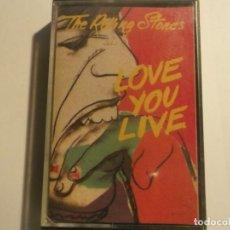 Casetes antiguos: THE ROLLING STONES-LOVE YOU LIFE-ORIGINAL ESPAÑOL 1987. Lote 155691678