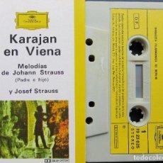 Casetes antiguos: KARAJAN EN VIENA - MELODÍAS DE JOHAN STRAUSS (PADRE E HIJO) Y JOSEF STRAUSS. Lote 155705142