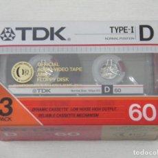 Casetes antiguos: TDK PACK DE 3 CINTAS CASETES VIRGENES D60 TDK. Lote 155709294