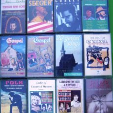 Casetes antiguos: LOTE 12 CASETES - COUNTRY. GOSPEL, PETE SEEGER, SACRED SPIRIT, TENNESSEE ERNIE FORD,. Lote 155762618