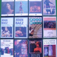 Casetes antiguos: LOTE 12 CASETES - COUNTRY. JOAN BAEZ, TAMMY WYNETTE, EMMYLOU HARRIS, RITA COOLIDGE. Lote 155762802