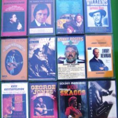 Casetes antiguos: LOTE 12 CASETES - COUNTRY. JOHNNY CASH, WILLIE NELSON, RICKY SKAGGS, HANK WILLIAMS. Lote 155763026
