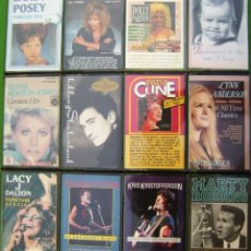 Casetes antiguos: LOTE 12 CASETES - COUNTRY. KRIS KRISTOFFERSON, PATSY CLINE, K.D. LANG, LINDA RONSTADT, DOLLY PARTON. Lote 155763266
