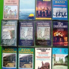 Casetes antiguos: LOTE 12 CASETES - FOLK, CELTIC CELEBRATION, THE DUBLINERS, OYSTER BAND, GWENDAL, GAITAS, VIOLINES Y . Lote 155763882
