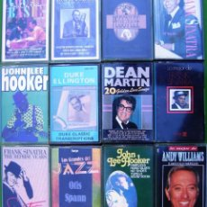 Casetes antiguos: -LOTE 12 CASETES - JAZZ. FRANK SINATRA, ANDY WILLIAMS, COUNT BASIE, PEGGY LEE, DEAN MARTIN. Lote 155767358