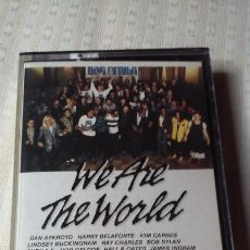 Casetes antiguos: WE ARE THE WORLD - USA FOR AFRICA (MICHAEL JACKSON - LIONEL RICHIE Y OTROS) CASSETTE. Lote 155970578