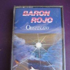 Casetes antiguos: BARÓN ROJO - CASETE ZAFIRO 1989 PRECINTADA - OBSTINATO - HEAVY METAL - OBUS - SANTA - MAZO. Lote 235055090