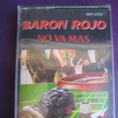 Casetes antiguos: BARÓN ROJO - CASETE ZAFIRO 1988 PRECINTADO - ¡NO VA MÁS! - HEAVY METAL - SANTA - PANZER - OBUS. Lote 235055035