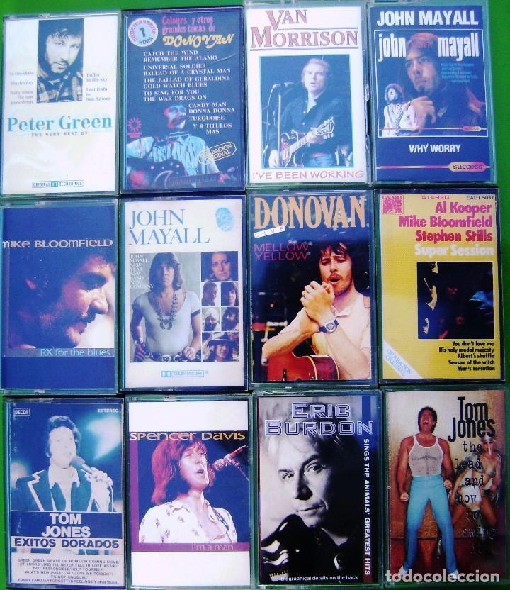 LOTE 12 CASETES - PETER GREEN, JOHN MAYALL, ERIC BURDON, DONOVAN, VAN MORRISON, TOM JONES (Música - Casetes)