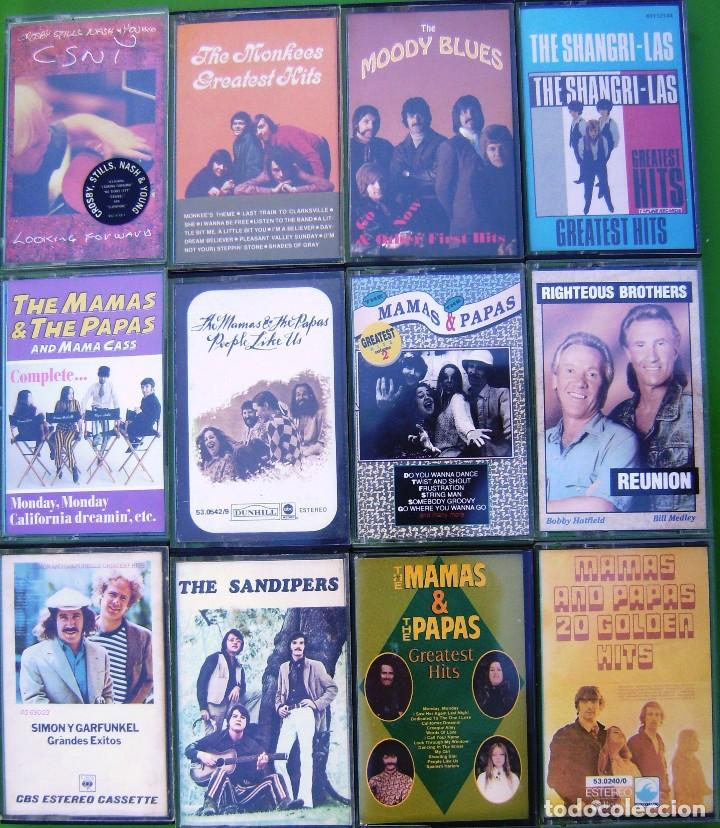 Casetes antiguos: Lote 12 casetes - The Mamas & The Papas, Monkees, Moody Blues, C.S,N. & Y., Shangri-Las - Foto 1 - 158702506