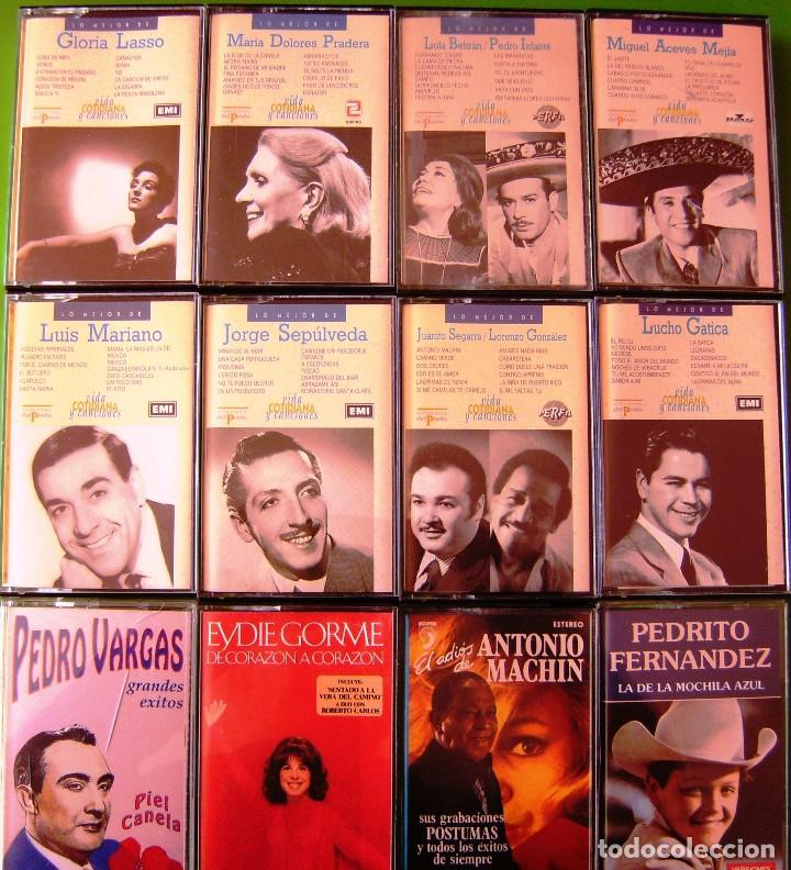 LOTE 12 CASETES - GLORIA LASSO, LUCHO GATICA, JORGE SEPULVEDA, LUIS MARIANO (Música - Casetes)