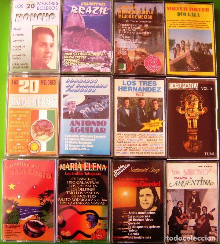 LOTE 12 CASETES - MONCHO, RANCHERAS, DUO GALA, VALLENATOS; TRIO SIBONEY (Música - Casetes)