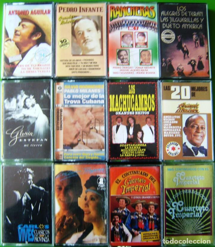LOTE 12 CASETES - RANCHERAS, GLORIA ESTEFAN, ANTONIO MACHIN, CARLOS VIVES, INDIOS TABAJARAS (Música - Casetes)