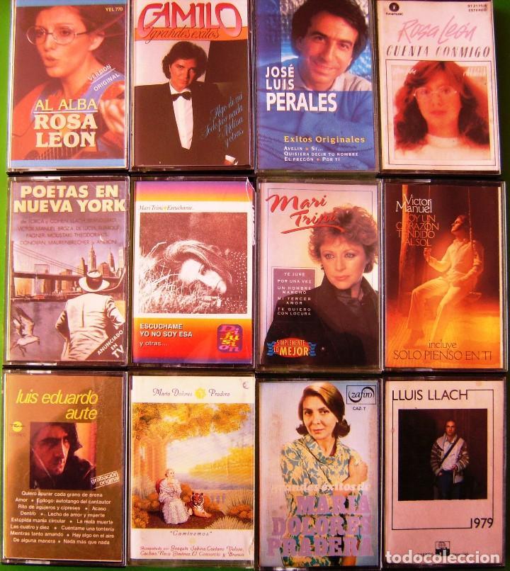 LOTE 12 CASETES - ROSA LEON, Mª DOLORES PRADERA, AUTE, MARI TRINI, VICTOR MANUEL (Música - Casetes)