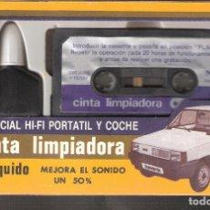 Casetes antiguos: CINTA LIMPIADORA CLENER. ORIGINAL VINTAGE. NO CONTIENE LIQUIDO. 17X11 CM CAJA.. Lote 159683298