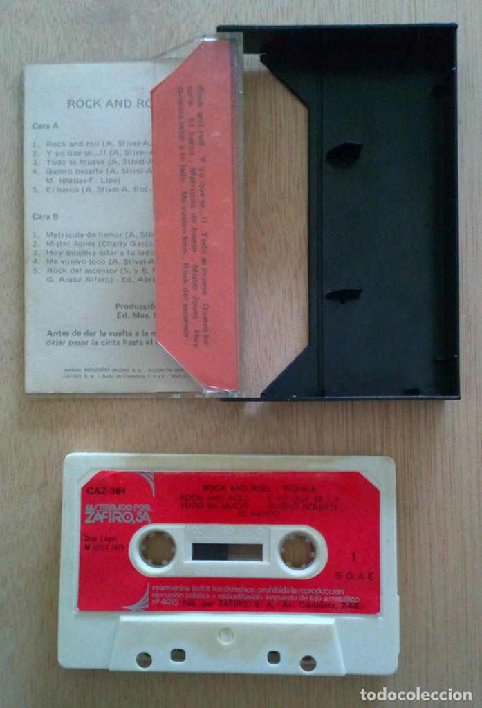 Casetes antiguos: Tequila Rock and Roll / Cinta Casete Cassette / Zafiro 1979 (Stereo) - Foto 2 - 161711762