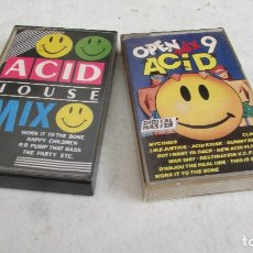 Casetes antiguos: CASSETTE -- OPEN MIX 9 ACID COMPILATION + ACID HOUSE MIX. Lote 159431158